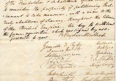 Petitions from Hemel Hempstead re the abolition of slavery, 1830