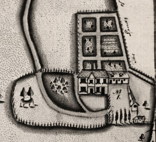 The old house on a map of 1798