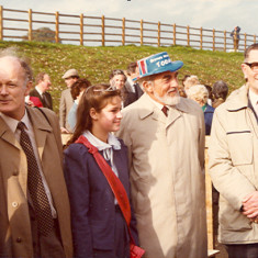 From Left to Right: Mike Hardy, Miss Redbourn, H.A.Greenfield (Chairman of the Highways) and Frank Cogan