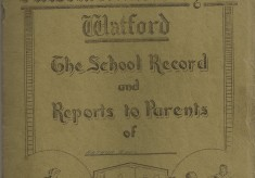 1946 School Report issued By Victoria School for boys