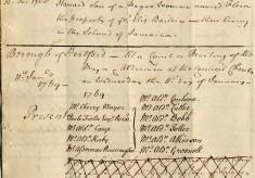 Sale of a Slave in Hertford, 1768