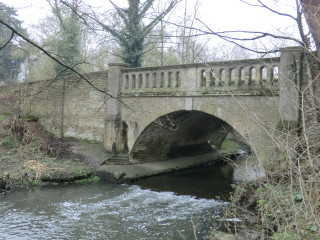 Bridge over the River Beane, adjacent to Watton Nursery - after heavy rain. | Terry Askew