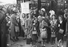 Evacuees arrive at Watford