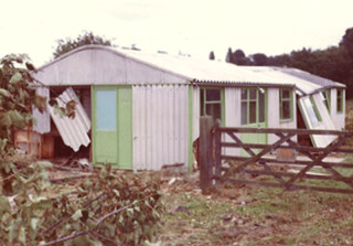 The 'scout hut' building, showing damage | Anon.