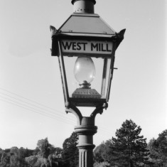 Close up of an oil lamp at West Mill. | © Michael Covey-Crump