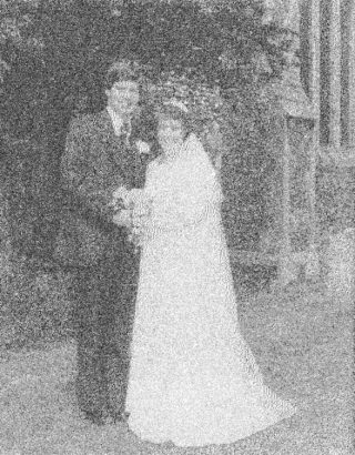 Sylvia Hurley marrying her husband at St. Ethelreda's church in Hatfield, 1976 | Welwyn Hatfield Museum Service