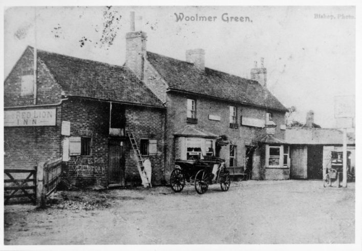 The Red Lion, early 20th Century | Woolmer Green Parish Council