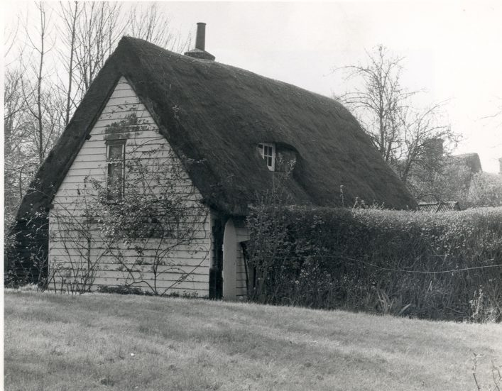 Unidentified Thatched Cottage, possibly in Hitchin or Baldock - Hertfordshire Archives  & Local Studies