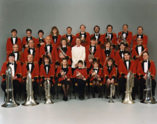 Formal photo session in Great Chesterford studio, 1986