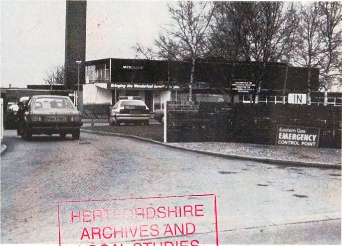Eastern Gas control point at Meridian School, Royston