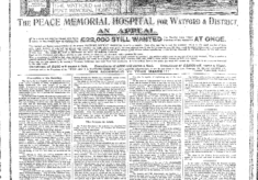 The Peace Memorial Hospital and the Watford Observer
