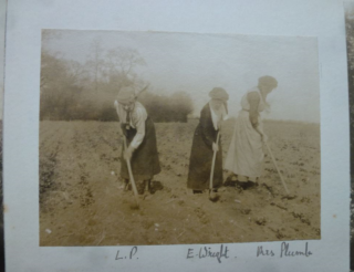 Louisa Puller and two other women As 'Land-Girl's' during the First World War