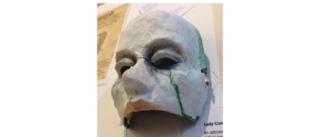 Hunger striker Constance mask by Joanna Scott | By Joanna Scott