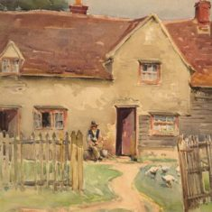 'A House at Albury' by G. Alister MacDonald, 1904 (ref. CV/ALB/6) | Hertfordshire Archives & Local Studies