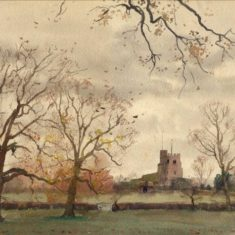 'Bushey Church from the West', 1914 (ref. CV/BUSH/11) | Hertfordshire Archives & Local Studies