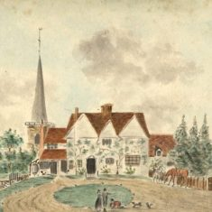 'South View of the Vicarage at Hemel Hempstead' by N. W. E. (ref. CV/HEM/19) | Hertfordshire Archives & Local Studies