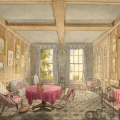 'A Room in the Old Priory at Hertford, Home of Henry Taylor and his Sister, Helen' (ref. CV/HERTF/163) | Hertfordshire Archives & Local Studies