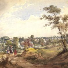 'Hertford from Camp Hill' (ref. CV/HERTF/178) | Hertfordshire Archives & Local Studies