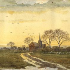 'Aldenham Church' by E. Morcey (ref. CV/ALDE/12) | Hertfordshire Archives & Local Studies