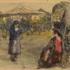 'Barnet Fair' by W. E. Sparkes, 1913 (ref. CV/BARN/8) | Hertfordshire Archives & Local Studies