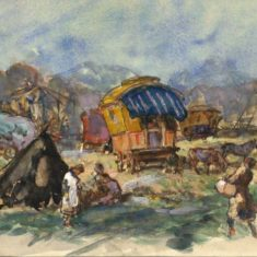'Barnet Fair' by W. E. Sparkes, 1913 (ref. CV/BARN/10) | Hertfordshire Archives & Local Studies