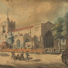 'Chipping Barnet Church' by Rowlandson (ref. CV/BARN/20) | Hertfordshire Archives & Local Studies