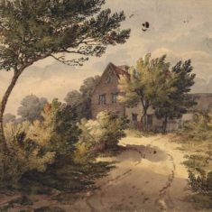 'Little Rickneys, Bengeo' by Fanny Bourne (ref. CV/BENG/31) | Hertfordshire Archives & Local Studies