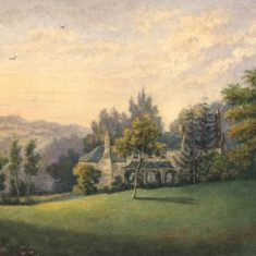 'House and View at Berkhamsted' by M. Broome or M. A. J. Rush (ref. CV/BERK.GT/38) | Hertfordshire Archives & Local Studies