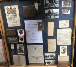 Display of George's belongings and those of his family