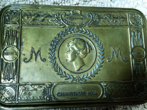 Found in George French's belongings; a Gift Box from Princess Mary, 1914
