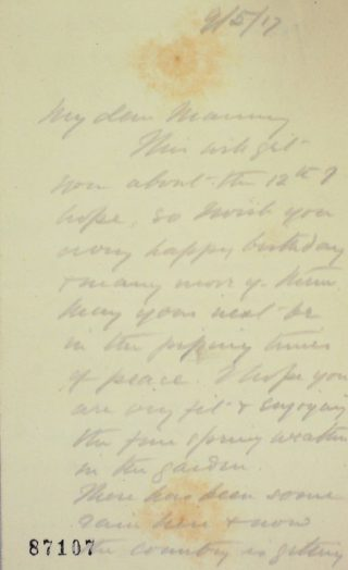 The Letters of Arthur Martin-Leake May 1917