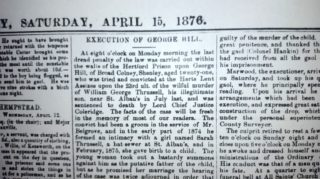 The execution is announced: Hertfordshire Mercury 15th April 1876   Hertfordshire Mercury
