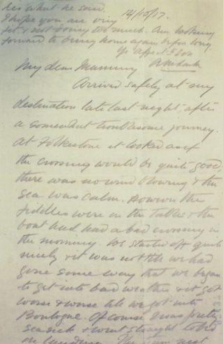 The Letters of Arthur Martin-Leake October 1917