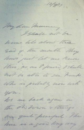 The Letters of Arthur Martin-Leake September 1917