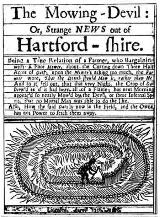 Front page of a 17th century pamphlet about the Hertfordshire Mowing Devil | Hertfordshire Archives & Local Studies