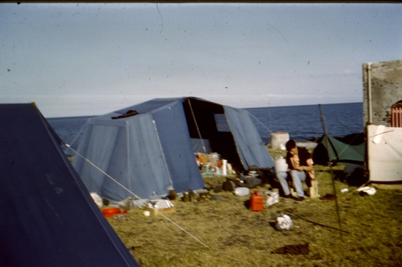 Photo of students camping