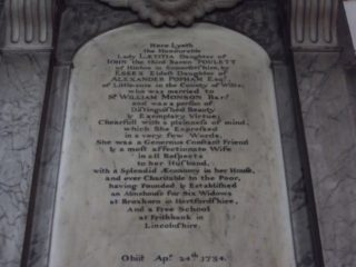Laetitia Monson's memorial inscription in St Augustine's church. 2017 | Colin Wilson