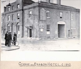 George and Dragon Hotel, Baldock c1910 | Hertfordshire Archives & Local Studies