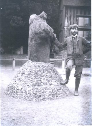 Puddingstone monument at Standon - date unknown | Hertfordshire Archives & Local Studies
