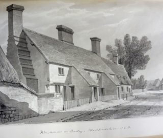 The Town House, drawn by J C Buckler c1840 | Hertfordshire Archives & Local Studies ref DE/Gb/2/120