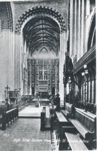 St Albans Abbey High Altar Screen | Hertfordshire Archives & Local Studies