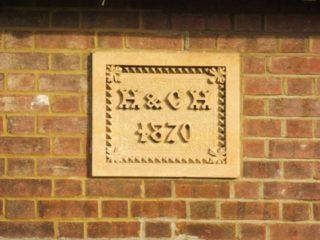 Date stone above the centre porch, Southdown Road. 2017   Colin Wilson