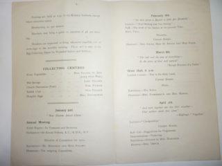 Northaw W I programme for 1919