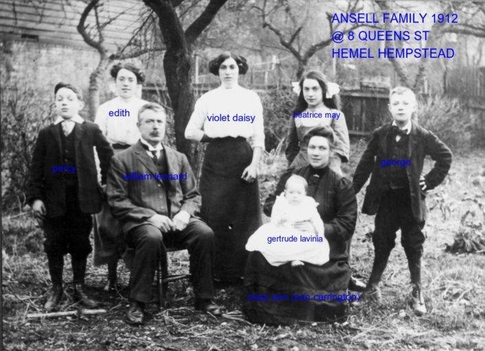 Gertrude memories Ansell Family 8 Queen Street 1912