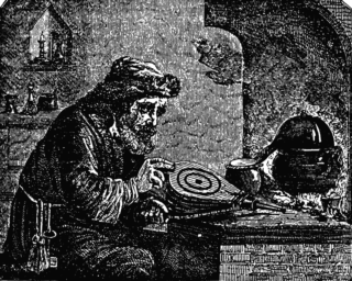 Alchemist by Charles Mackay   Public Domain