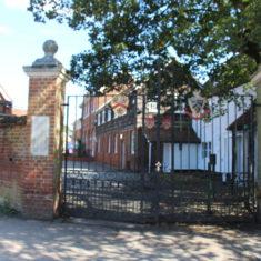 Old Stevenage. Old Entrance Gates to Alleyne's School, High St, SG1 3BE | Eric Riddle