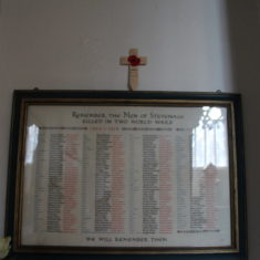 Old Stevenage. Roll of Honour Inside Holy Trinity, High Street,SG1 3DB | Eric Riddle