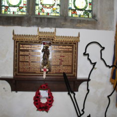 Kings Walden. Inside Church. Plaque on wall. SG4 8JX   Eric Riddle