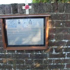 . In the Churchyard of St John's Church, the Memorial to Arthur Martin Leake awarded 2 VCs. The first in the Boer War, the second in the 1st World War. SG11 1AZ. | Eric Riddle