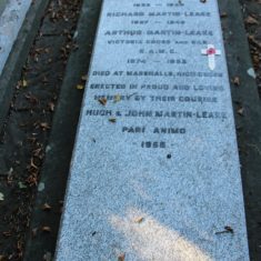 . In the Churchyard of St John's Church, the resting place of Arthur Martin Leake awarded 2 VCs. The first in the Boer War, the second in the 1st World War. SG11 1AZ. | Eric Riddle